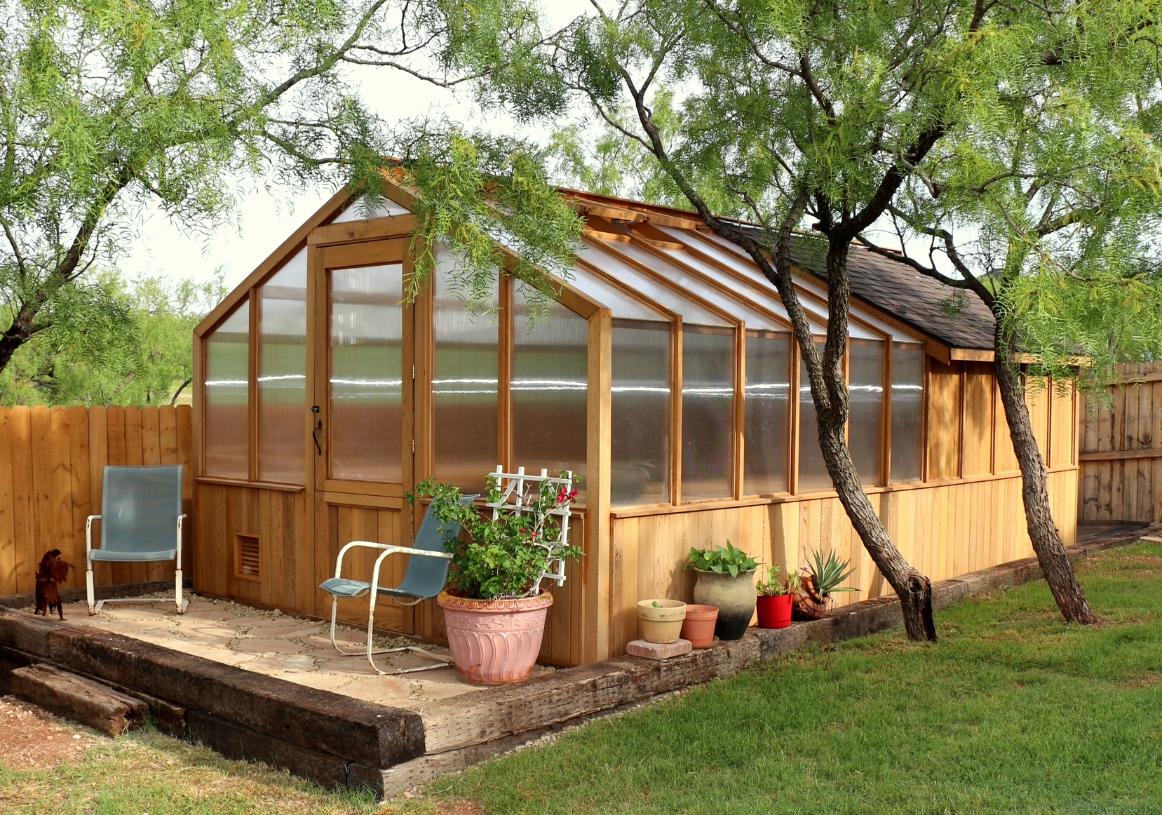 Greenhouse kits by cedar built for Garden shed pictures