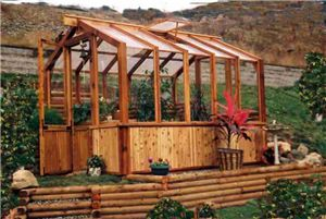 cedar greenhouse kit, hobby greenhouse